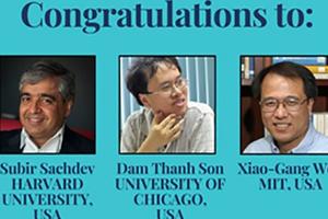 Giáo sư Đàm Thanh Sơn được trao huy chương Vật lý Dirac 2018