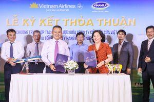 Vinamilk bắt tay hãng hàng không lớn nhất Việt Nam
