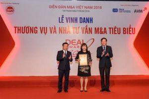 Vietcombank được vinh danh Thương vụ tiêu biểu nhất thập kỷ