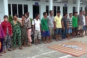 22 'con bạc' sát phạt tại khu đất trống của Khu dân cư