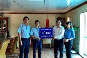 Công đoàn Công Thương VN hỗ trợ người lao động Cty CP nhựa Hưng Yên bị thiệt hại do hỏa hoạn