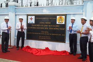 Gắn biển công trình trạm biến áp 220kV - Khu Công nghiệp Sa Đéc