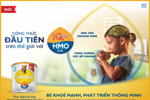 Trẻ bú sữa công thức có chứa 2'-FL HMO đáp ứng miễn dịch gần như trẻ bú sữa mẹ