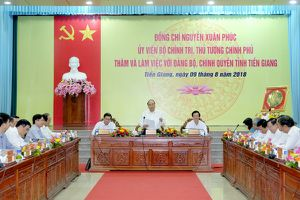 Thủ tướng Nguyễn Xuân Phúc: Tiền Giang cần phát huy tốt lợi thế 'nhất cận thị, nhị cận giang, tam cận lộ'