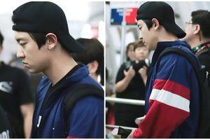 Phản ứng vô cùng bất ngờ của Chanyeol (EXO) khi bị fan cuồng xô đẩy ngay ở sân bay