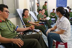 Tuổi trẻ Công an tỉnh Phú Yên: ' Hiến máu cứu người - Nghĩa cử cao đẹp'
