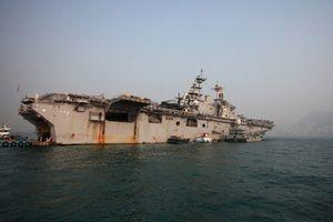 Tàu chiến, máy bay Mỹ 'quần thảo' vùng biển Philippines tìm binh sĩ rơi xuống biển mất tích