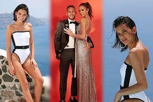 Bạn gái Neymar nóng bỏng ở đảo thiên đường Santorini
