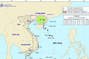 Áp thấp nhiệt đới trên Biển Đông di chuyển theo hướng Bắc