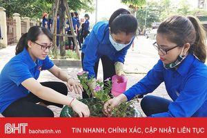 Đường hoa thanh niên xây dựng đô thị TP Hà Tĩnh văn minh