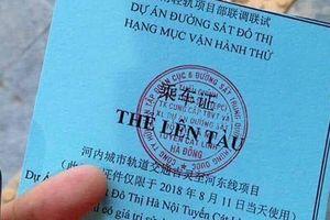 Vé đi thử tàu Cát Linh-Hà Đông in chữ TQ: Phê bình tổng thầu
