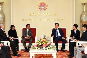 Thứ trưởng Nguyễn Văn Sơn tiếp Đoàn đại biểu Cơ quan CSGT Indonesia