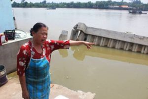 Điều tra vụ bờ kè vừa đưa vào sử dụng bị sập xuống sông Đồng Nai