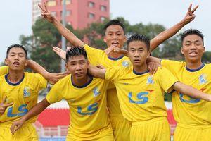 VCK U15 QG- Cúp Thái Sơn Bắc: SLNA chia điểm, Sài Gòn thắng