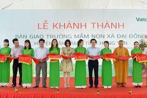 Vietcombank tài trợ 3 tỷ đồng xây dựng trường mầm non tại Hưng Yên