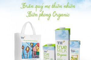 Quà tặng túi vải canvas cho khách hàng đổi vỏ hộp TH true MILK Organic
