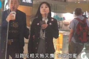 Ông trùm 80 tuổi Lâm Kiến Danh đi uống trà sữa cùng bạn gái