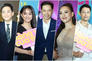 Johnny Trí Nguyễn, Kaity và dàn sao Việt đến xem Thái Hòa làm 'chàng vợ' của Phương Anh Đào