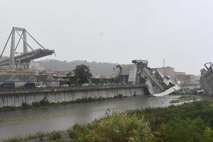 Nóng: Italy cầu cao tốc bị sập gây cảnh tượng kinh hoàng