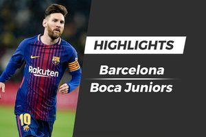 Highlights Messi ghi bàn giúp Barca đánh bại đội bóng quê nhà