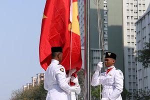 Quốc kỳ Việt Nam tung bay tại ASIAD 18