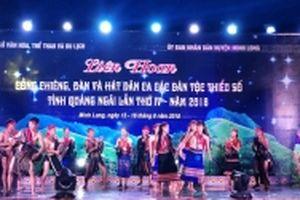 Liên hoan cồng chiêng và đàn hát dân ca tỉnh Quảng Ngãi