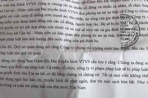 Smartland gửi công văn đòi truy sát gia đình Giám đốc VTV9: Có thể xử lý hình sự?