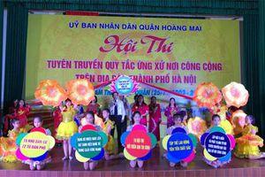 Hà Nội tổ chức hội thi Quy tắc ứng xử nơi công cộng cấp thành phố