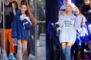 Phong cách thời trang chuộng mốt giấu quần của Ariana Grande