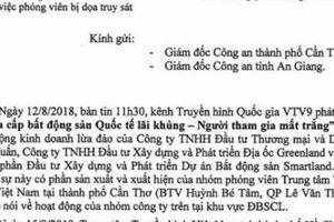 VTV Cần Thơ đề nghị Công an Cần Thơ, An Giang vào cuộc vụ truy sát