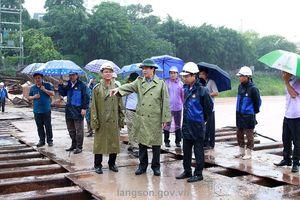 Chủ tịch tỉnh Lạng Sơn yêu cầu khẩn trương ứng phó lũ kịp thời