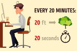 Bài tập mắt cho người thường xuyên ngồi máy tính làm việc