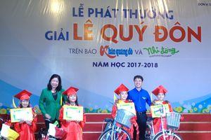 'Giải thưởng Lê Quý Đôn giúp học sinh sáng tạo hơn'