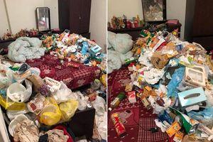 Đã quỵt tiền, khách thuê nhà còn để lại nguyên bãi rác 'ngập mặt' cho chủ