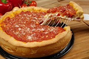 Bánh pizza kiểu Chicago ngon mê