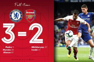 Thua trận thứ hai liên tiếp, Arsenal tụt xuống nhóm cuối bảng