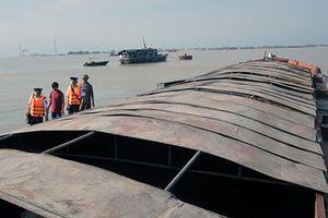 Cảnh sát biển 1 tạm giữ 500 tấn than không rõ nguồn gốc