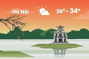 Thời tiết ngày 20/8: Hà Nội nóng, Sài Gòn mưa dông