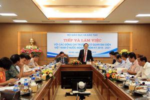 Mong muốn các vị đại sứ Việt Nam đẩy mạnh hợp tác quốc tế trong lĩnh vực GD&ĐT