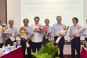 Nghệ An: Thành lập Tổ tư vấn kinh tế, xã hội cho Chủ tịch tỉnh