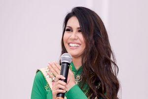 'Hoa hậu Trái đất 2015' Angelia Ong đến Hà Nội