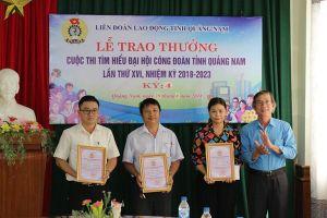 Trao thưởng kỳ 4 Cuộc thi Tìm hiểu Đại hội Công đoàn tỉnh Quảng Nam lần thứ 16
