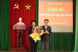 Công bố và trao quyết định giao nhiệm vụ Chủ tịch LĐLĐ tỉnh Lâm Đồng khóa IX