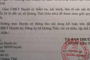 Bí ẩn 26 lô đất cấp cho cán bộ ở Thanh Hóa: UBND 'phớt' chỉ đạo của Huyện ủy?