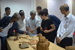 Phát hiện nhiều hiện vật giá trị từ khai quật khảo cổ di tích Chăm Phong Lệ