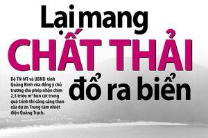 Sẽ không nhận chìm 2,5 triệu m3 đất cát xuống biển Quảng Bình