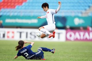 Thua Nhật Bản 0-7, tuyển nữ Việt Nam gặp đội nhì bảng A ở tứ kết