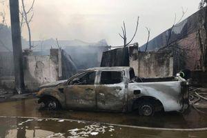 Cháy lớn tại xưởng sơn