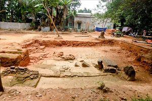Nhiều hiện vật quý được phát hiện ở di tích Chăm Phong Lệ