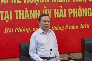 Ban Chỉ đạo Trung ương kiểm tra công tác phòng chống tham nhũng tại Hải Phòng